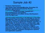 sample job 2
