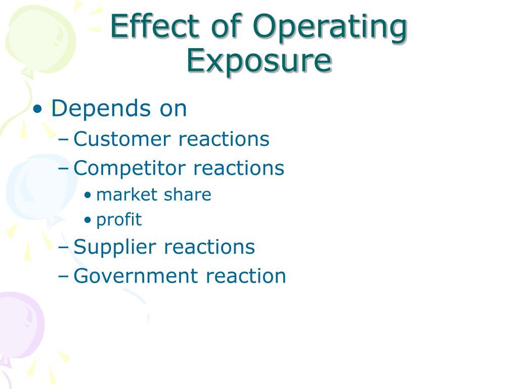 Effect of Operating Exposure