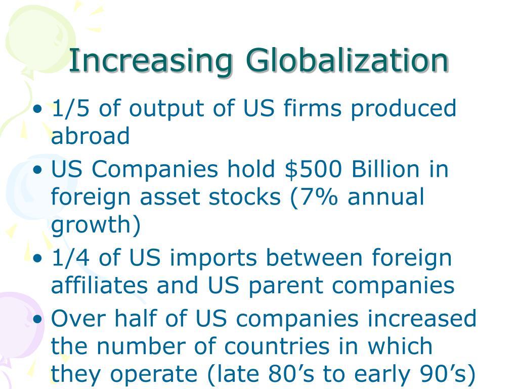 Increasing Globalization