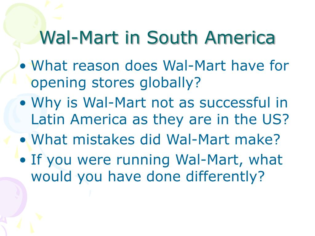 Wal-Mart in South America
