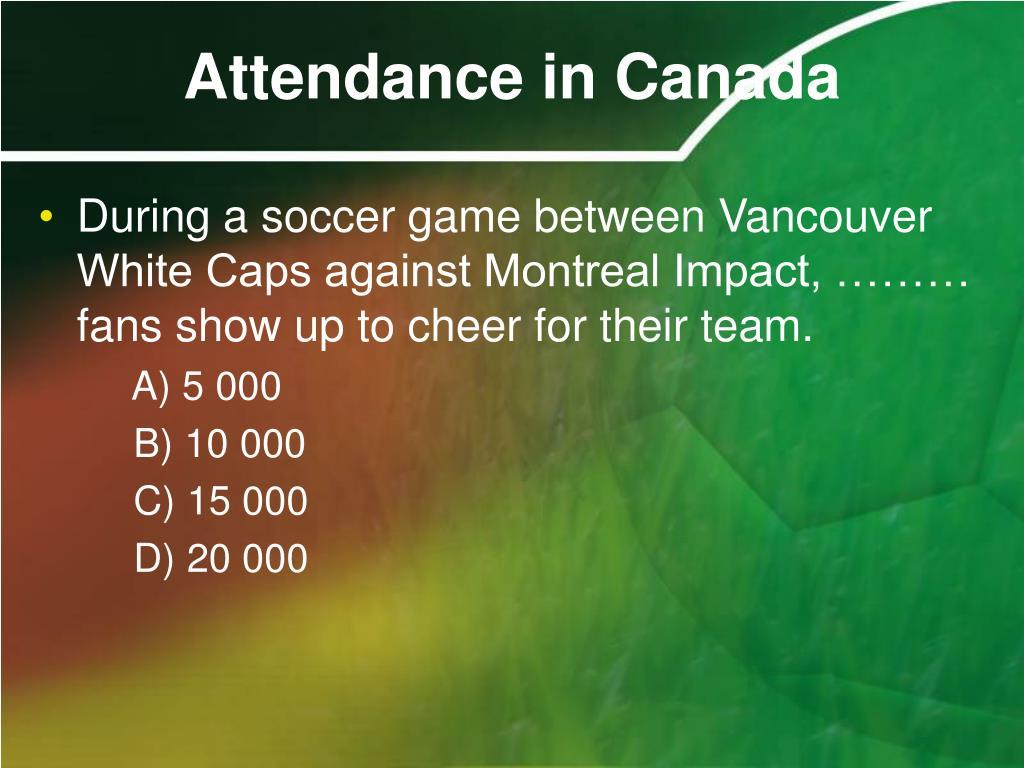 Attendance in Canada