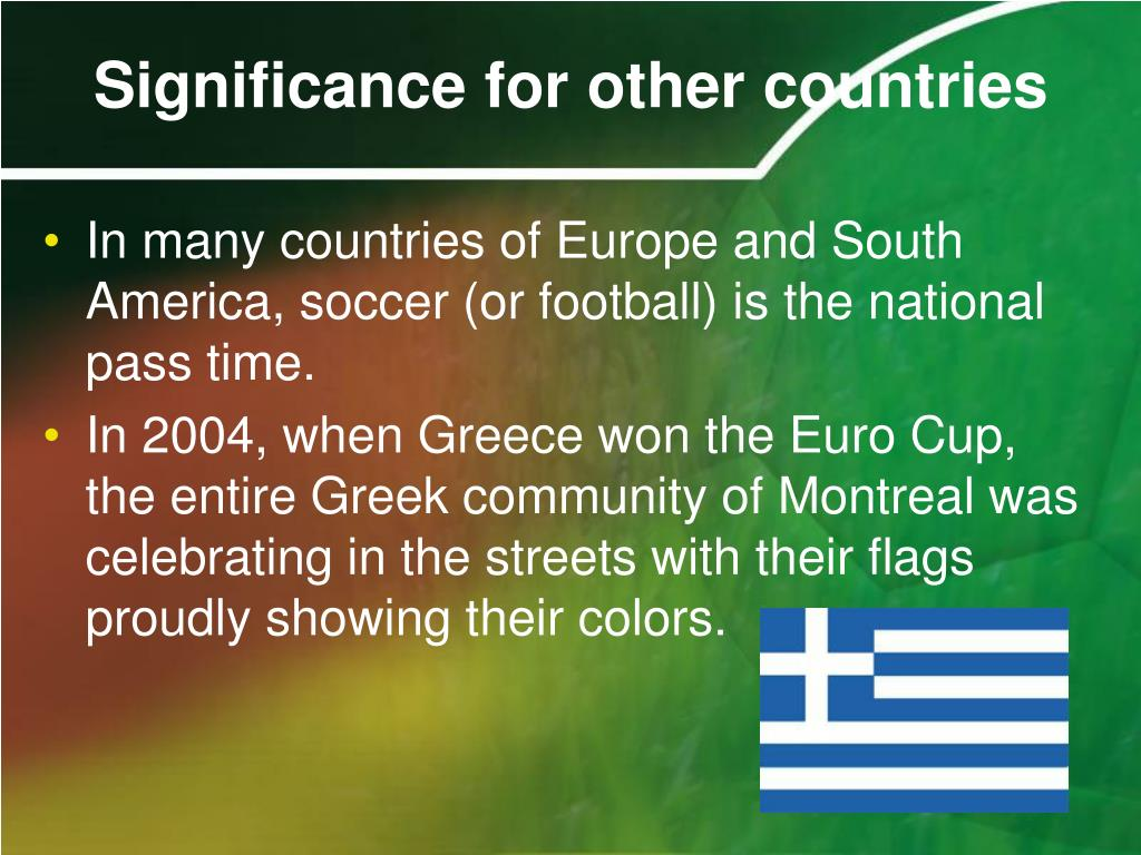 Significance for other countries