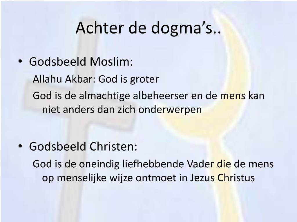 Achter de dogma's..