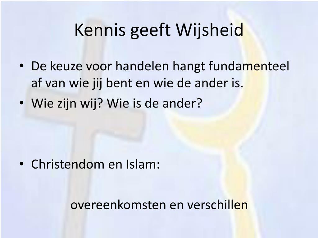 Kennis geeft Wijsheid