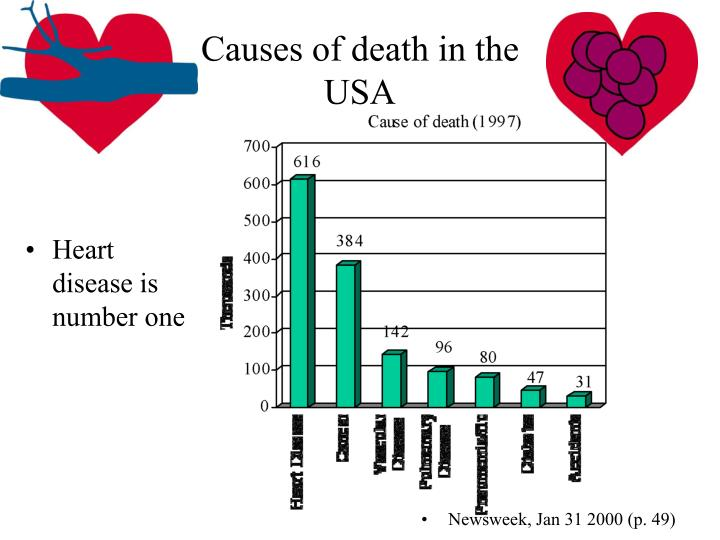 Causes of death in the USA