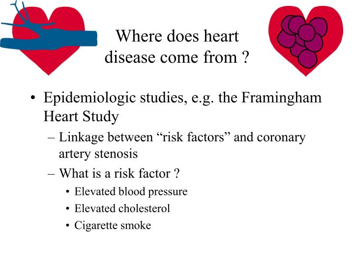 Where does heart disease come from ?