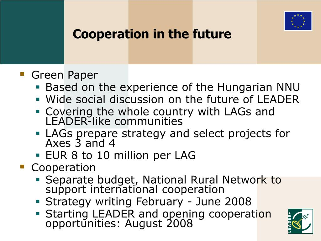 Cooperation in the future