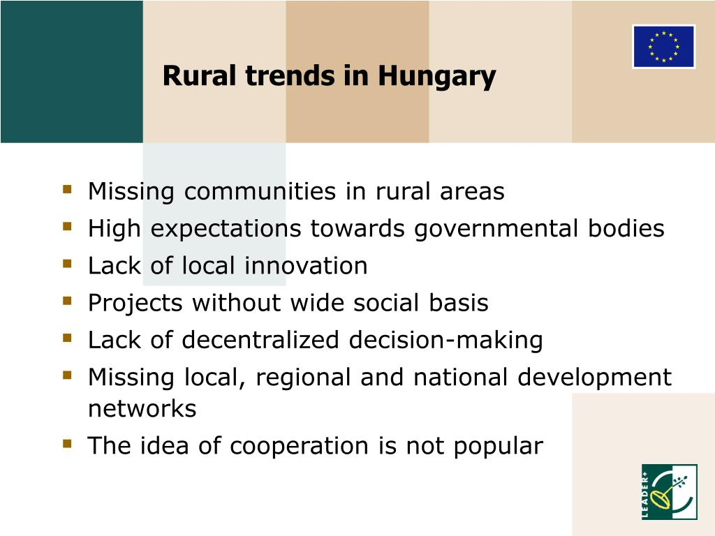Rural trends in Hungary