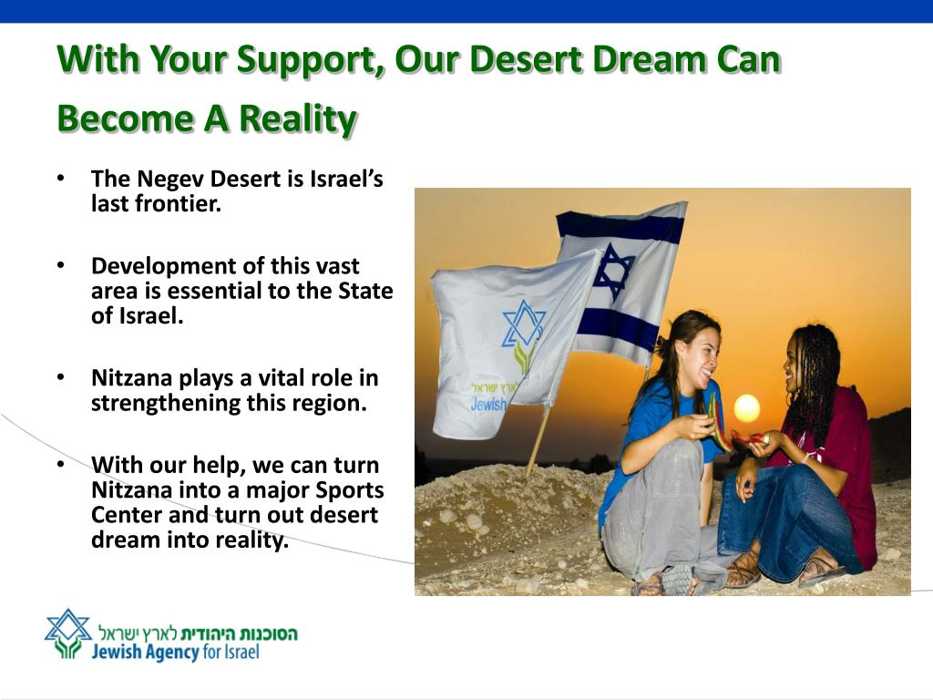 With Your Support, Our Desert Dream Can Become A Reality