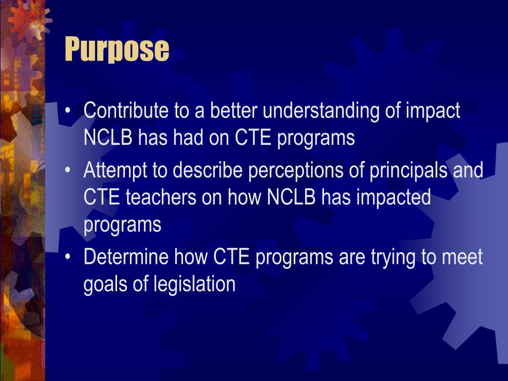 the impact of no child left This page outlines the important aspects of no child left behind  under no child left  the assessment that their child may be excused from.
