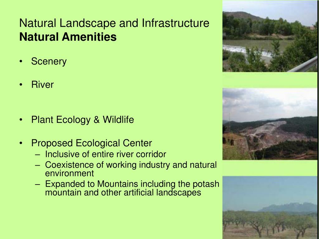 Natural Landscape and Infrastructure