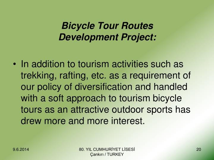 Bicycle Tour Route