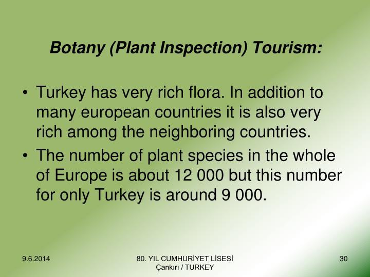 Botany (Plant Inspection) Tourism:
