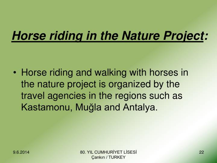 Horse riding in the Nature Project