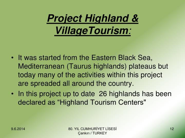 Project Highland & VillageTourism