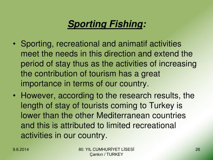 Sporting Fishing