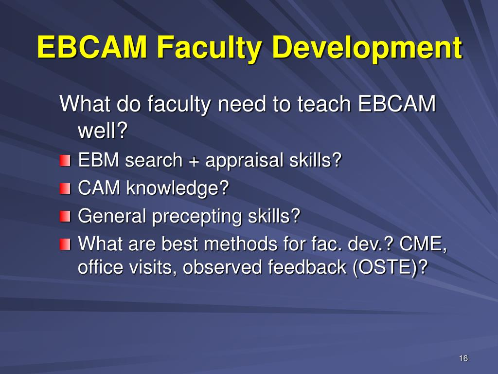 EBCAM Faculty Development