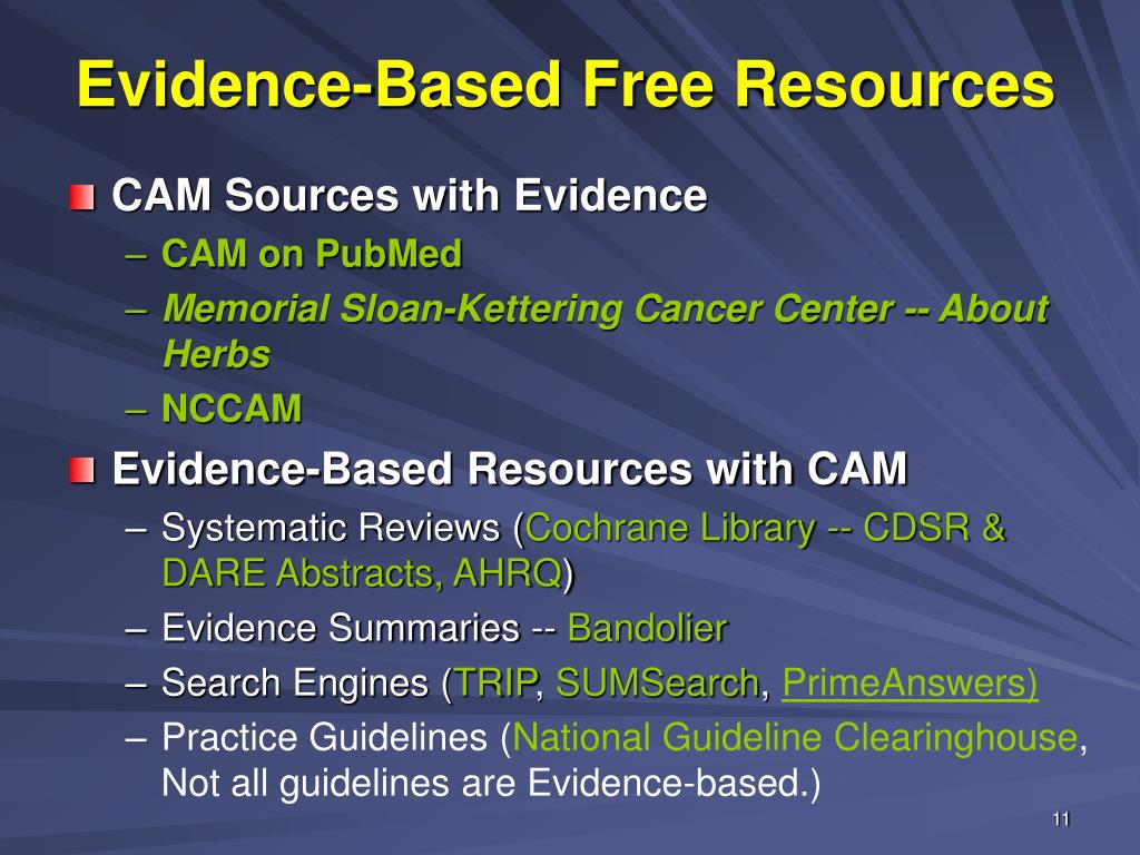 Evidence-Based Free Resources