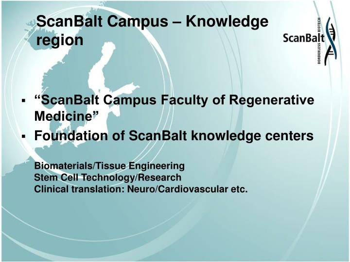 ScanBalt Campus – Knowledge region