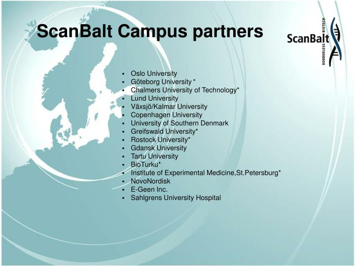 ScanBalt Campus partners