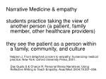 narrative medicine empathy