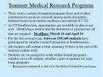 summer medical research programs