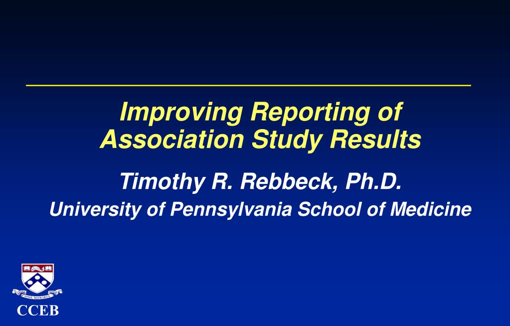 Improving Reporting of
