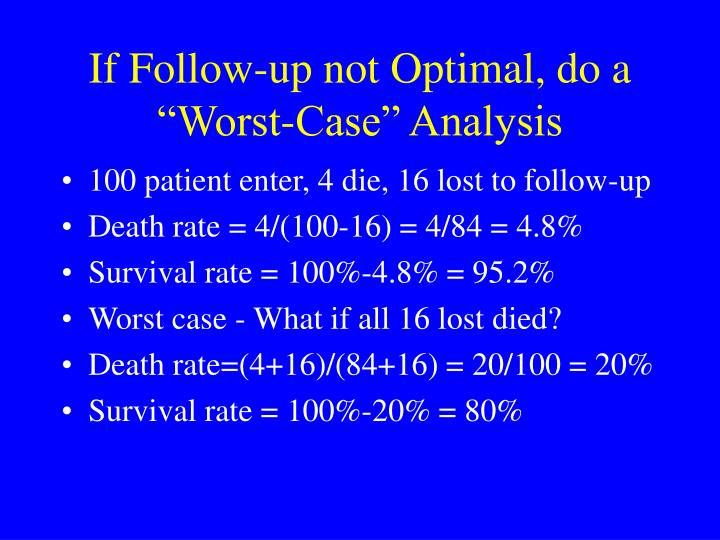 "If Follow-up not Optimal, do a ""Worst-Case"" Analysis"