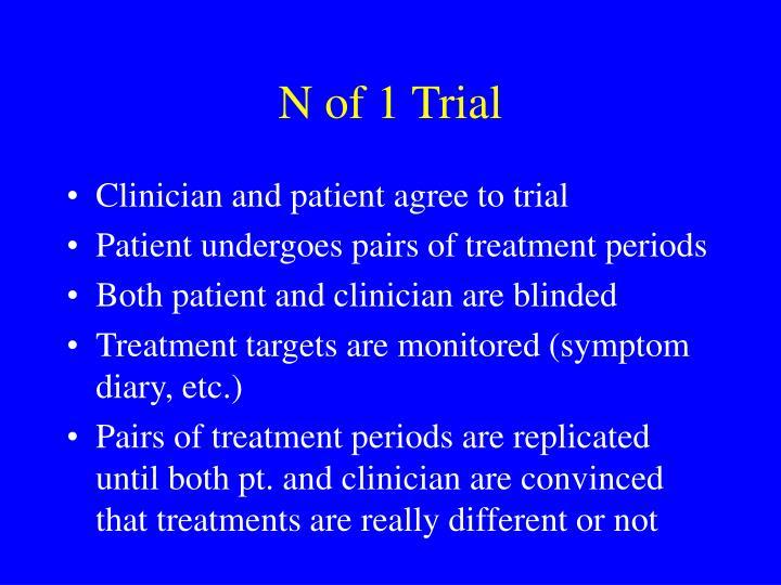 N of 1 Trial