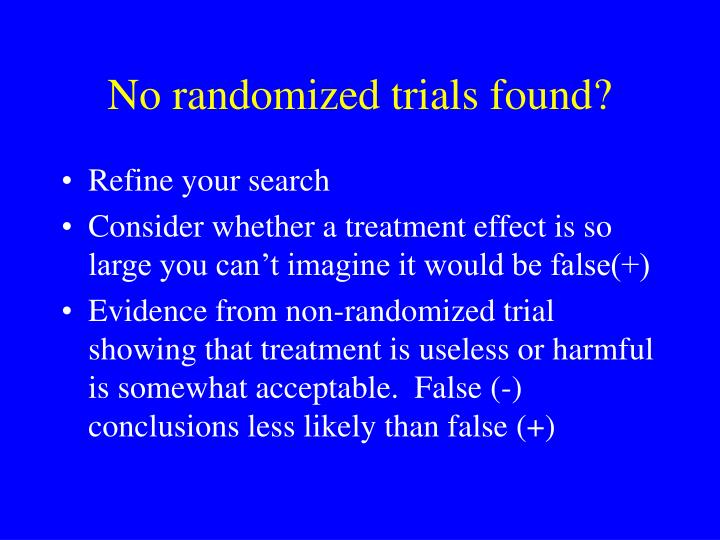 No randomized trials found?