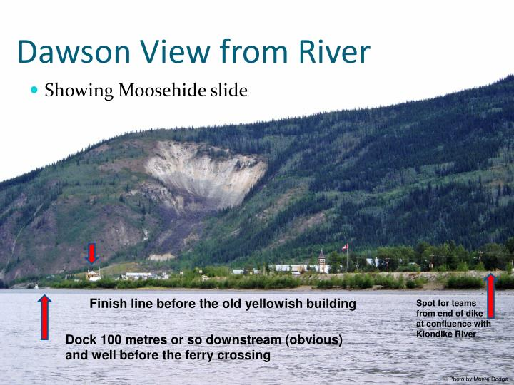 Dawson View from River