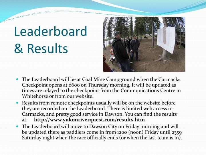 Leaderboard & Results