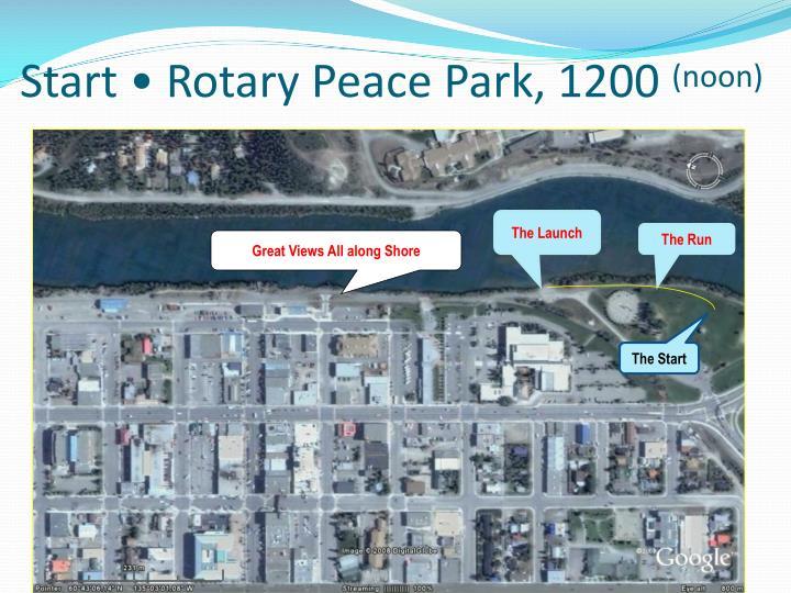 Start • Rotary Peace Park, 1200