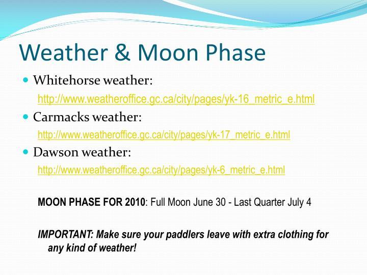 Weather & Moon Phase