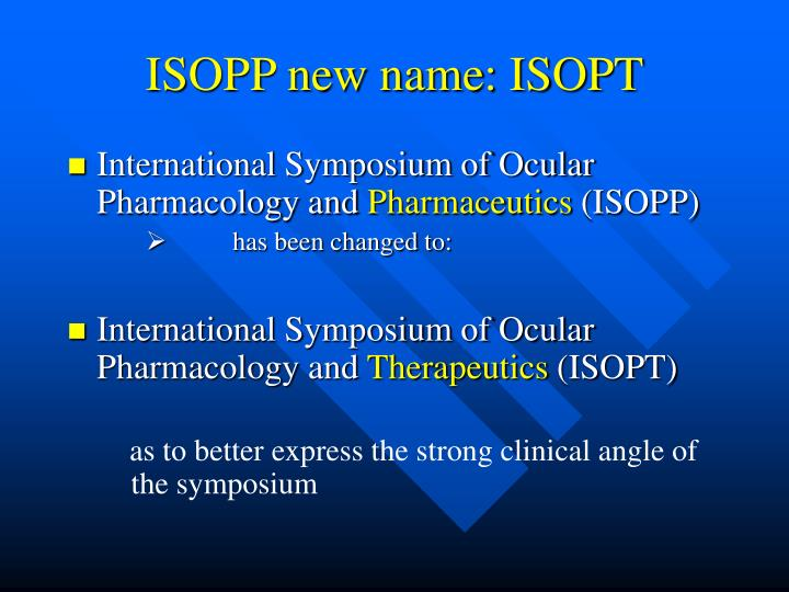 Isopp new name isopt
