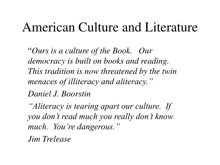 American Culture and Literature