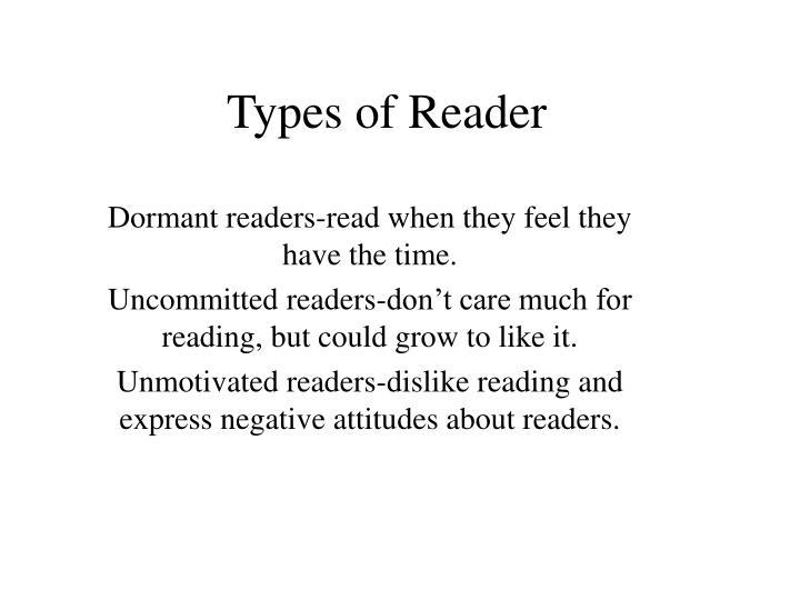 Types of Reader