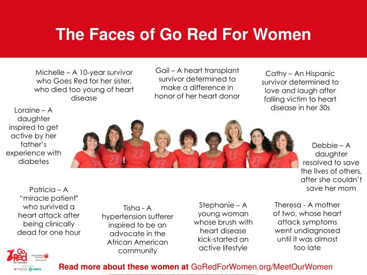 The faces of go red for women