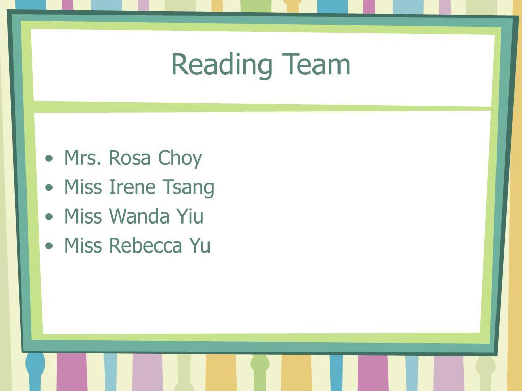 Reading Team