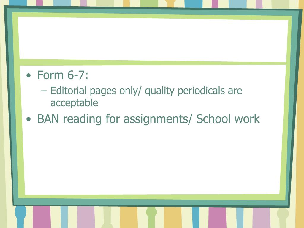 Form 6-7: