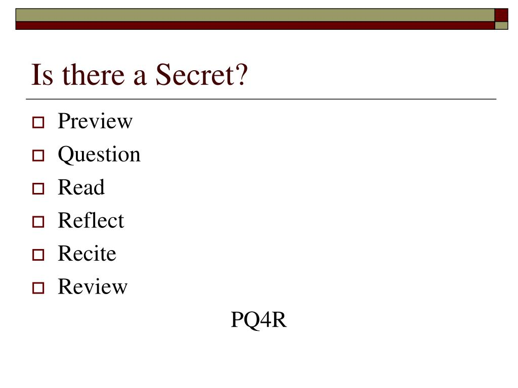 Is there a Secret?