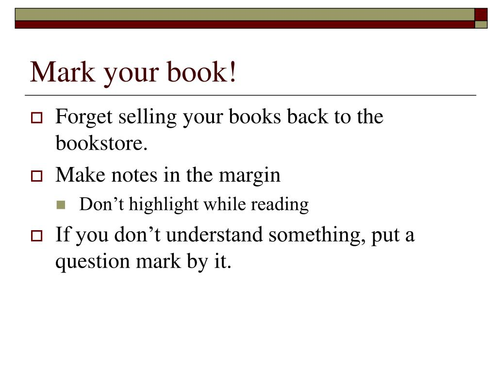 Mark your book!