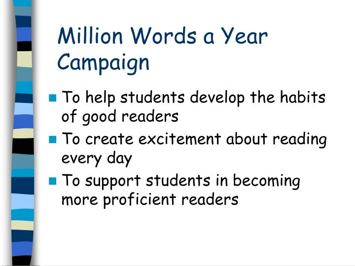 Million words a year campaign