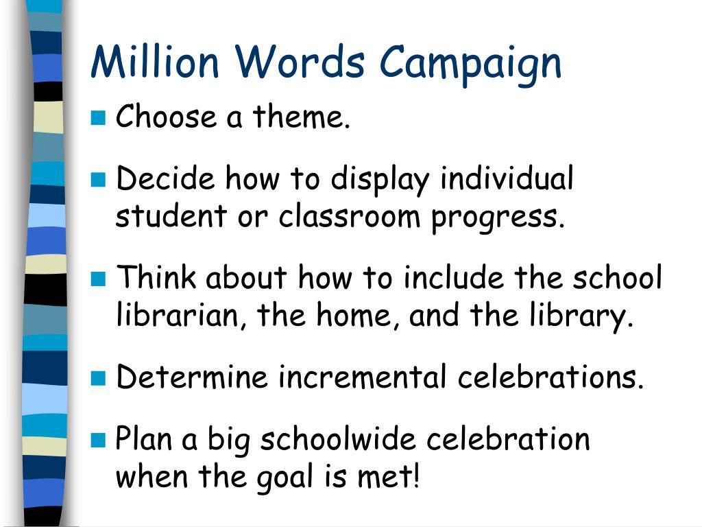 Million Words Campaign