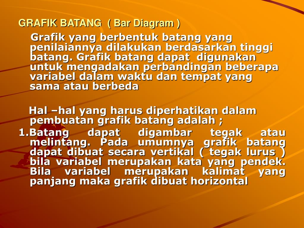GRAFIK BATANG  ( Bar Diagram )