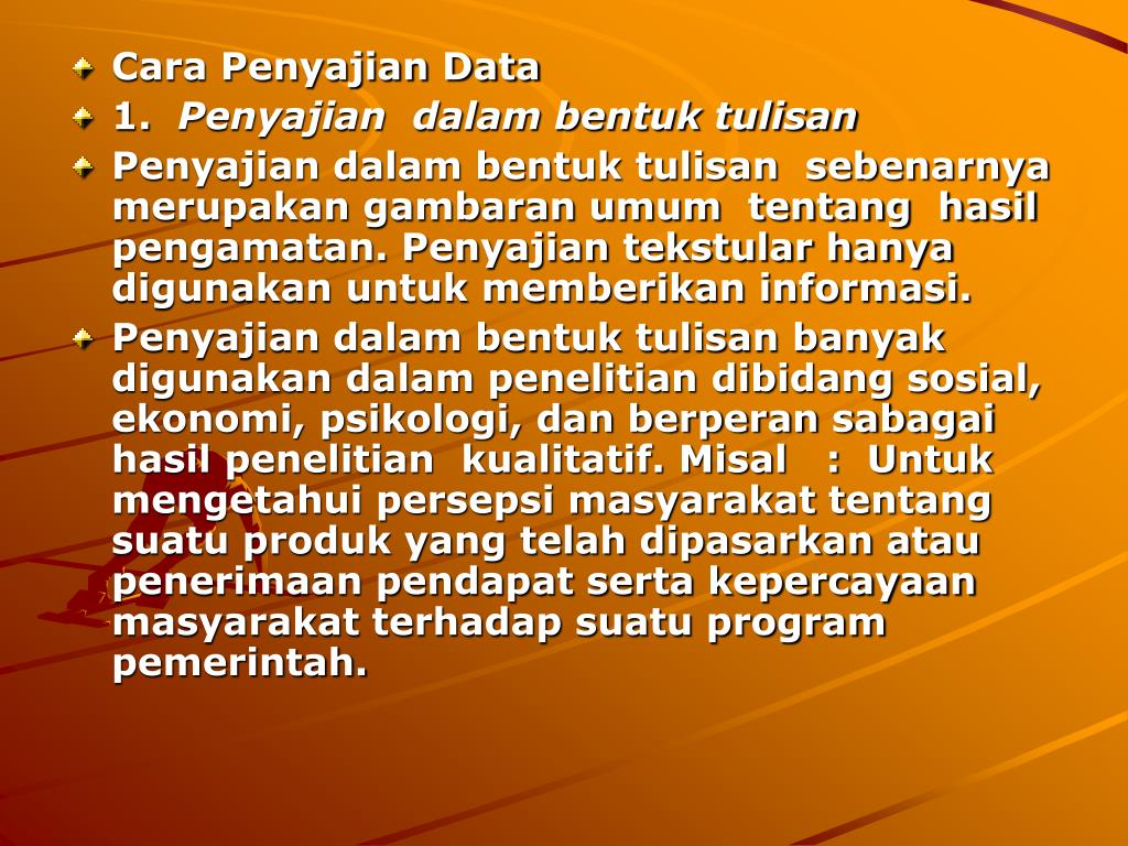 Cara Penyajian Data