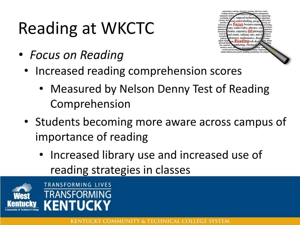 Reading at WKCTC