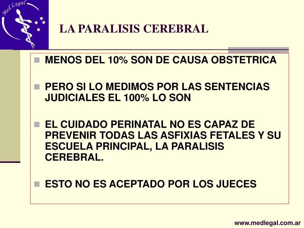 LA PARALISIS CEREBRAL