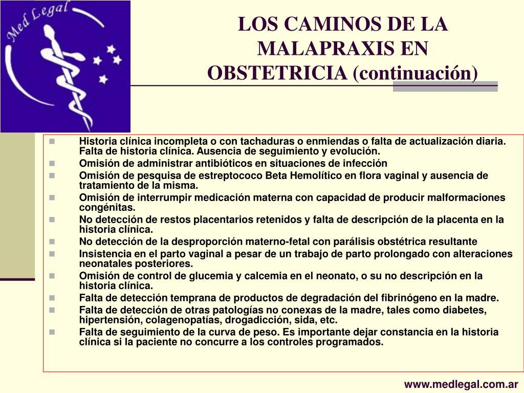 LOS CAMINOS DE LA MALAPRAXIS EN OBSTETRICIA (continuación)