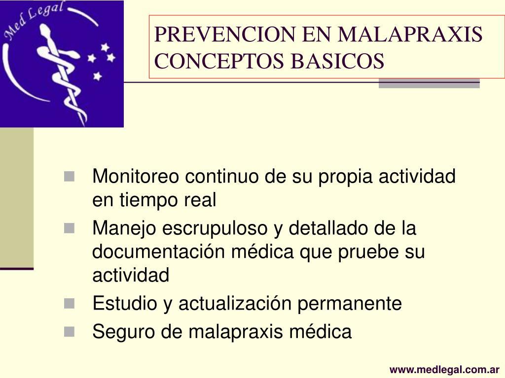 PREVENCION EN MALAPRAXIS